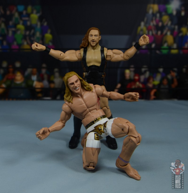 wwe elite 78 matt riddle figure review - broserweights pose