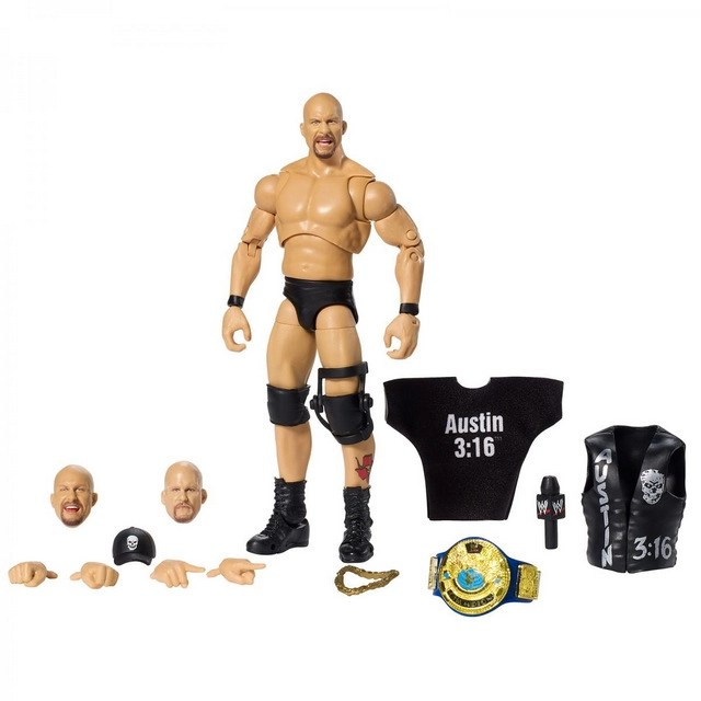 wwe ultimate edition stone cold steve austin - figure with all accessories