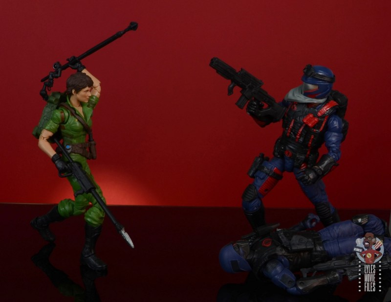 gi joe classified series lady jaye figure review - face off with cobra viper