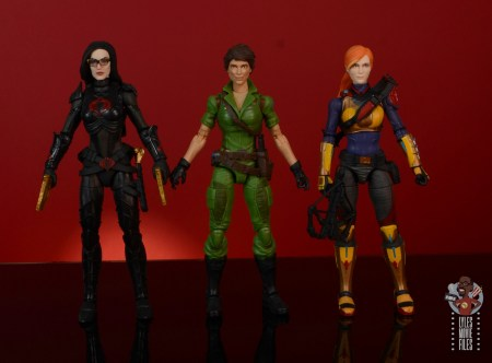 gi joe classified series lady jaye figure review - scale with baroness and scarlett
