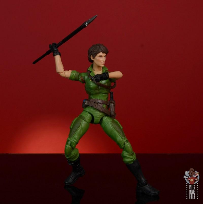 gi joe classified series lady jaye figure review - throwing javelin