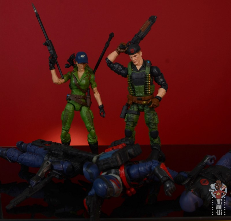 gi joe classified series lady jaye figure review - victorious over vipers with flint