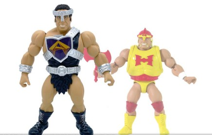 mattel wwe wrestlemania 2021 figure reveals - masters of the universe wave 7 andre scale with hulk hogan