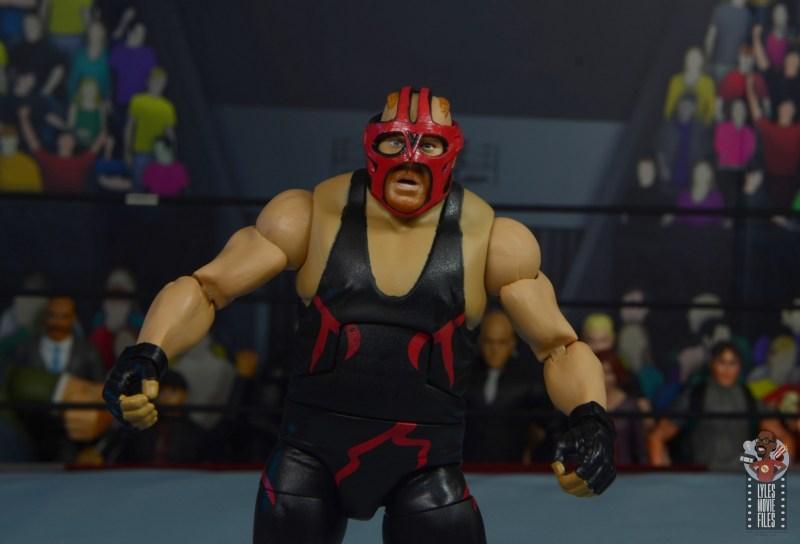 wwe legends 10 big van vader figure review - red mask closeup