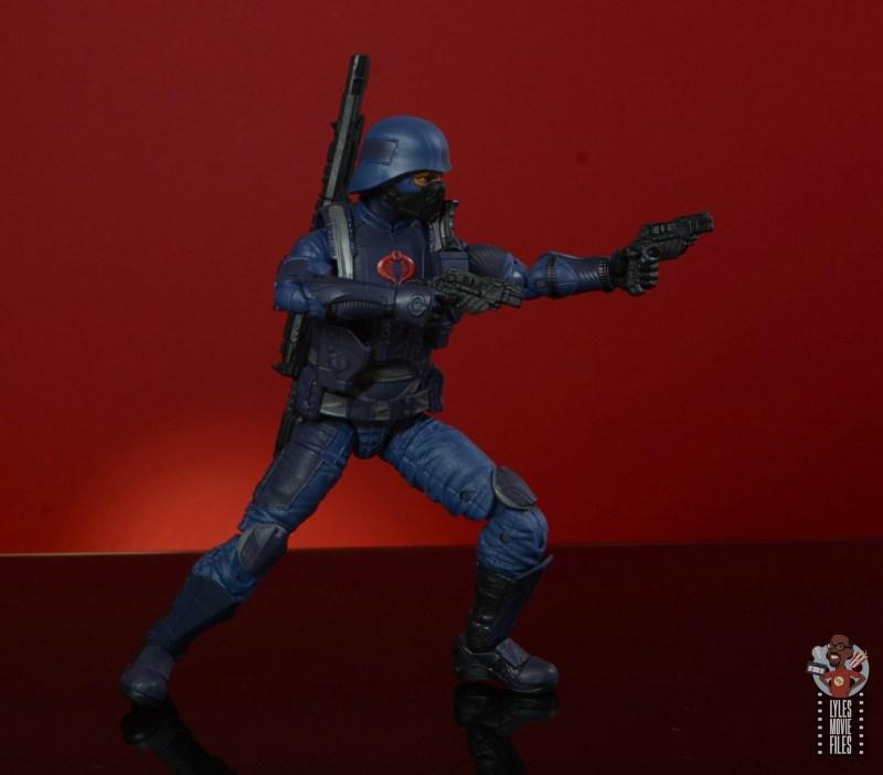 gi joe classified cobra infantry review - aiming pistols