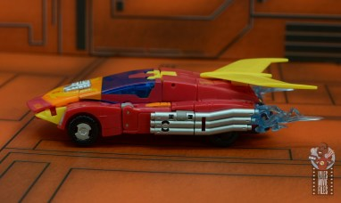 transformers studio series 86 hot rod review - vehicle mode left side