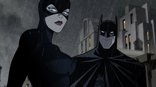 batman the long halloween part one review - catwoman on rooftop with batman