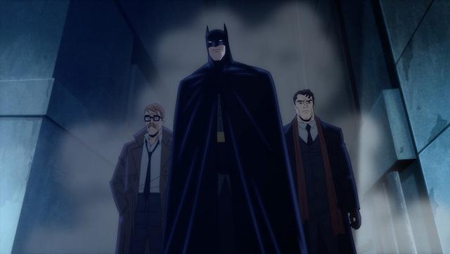 batman the long halloween part one review - gordon, batman and harvey
