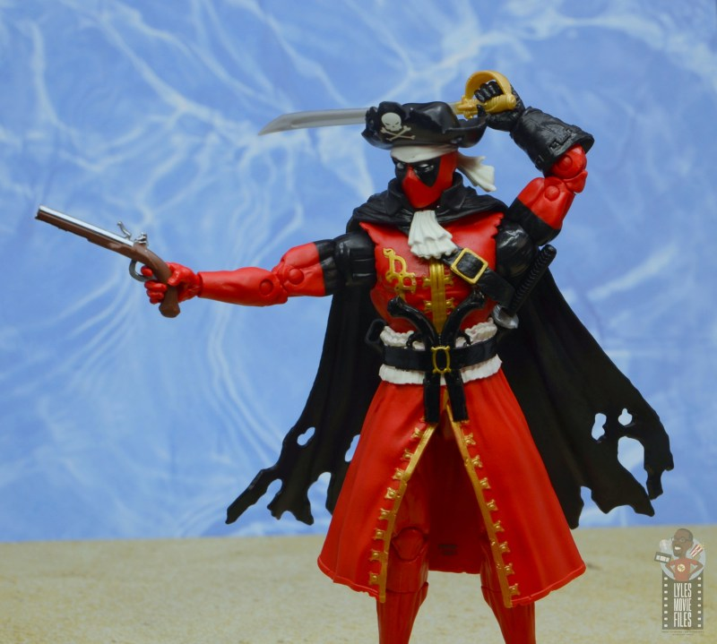 marvel legends pirate deadpool review -aiming pirate pistol