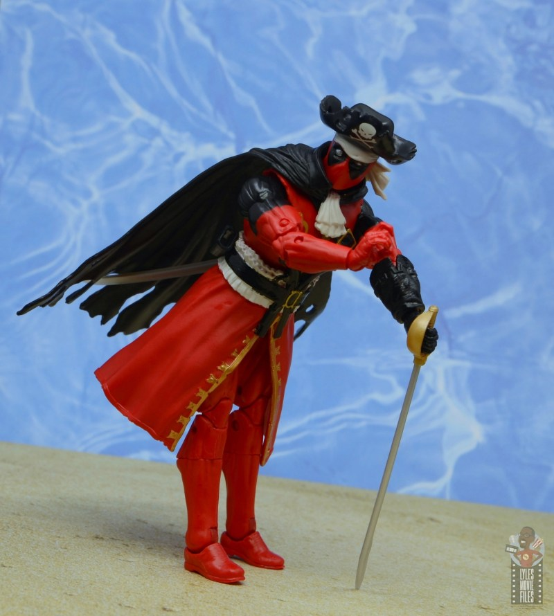 marvel legends pirate deadpool review -cheesecake pose