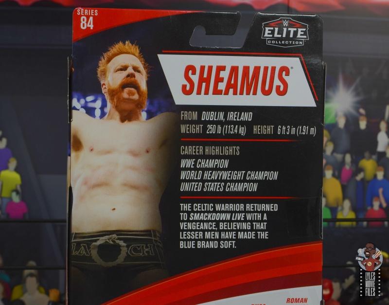 wwe elite 84 sheamus review - package bio