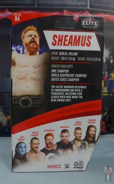 wwe elite 84 sheamus review - package rear