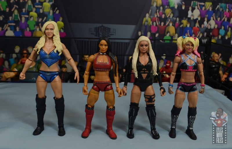 wwe elite 84 zelina vega review - scale with charlotte flair, liv morgan and alexa bliss