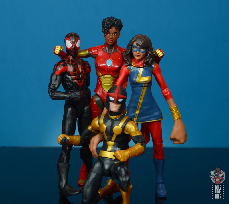 marvel legends ironheart review - champions together)