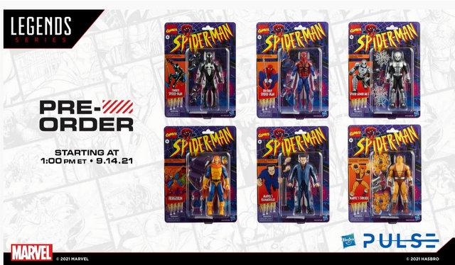 fan first marvel legends retro spider-man wave