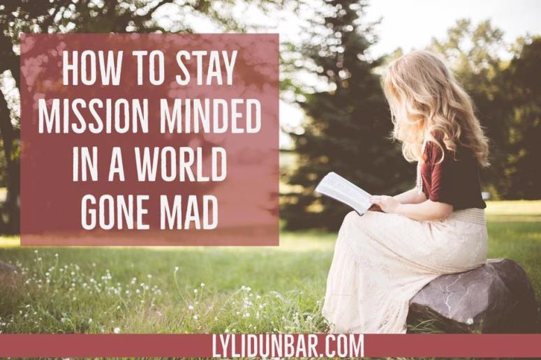 How to Stay Mission Minded in a World Gone Mad | lylidunbar.com