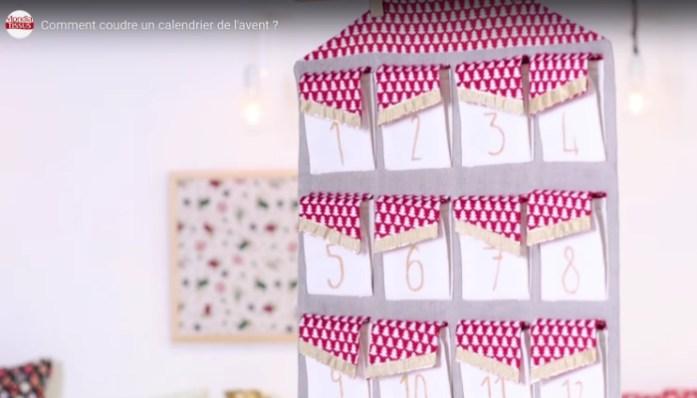 DIY mondialtissu tutoriel gratuit pour confectionner soi-même un calendrier de l'avent beau et original