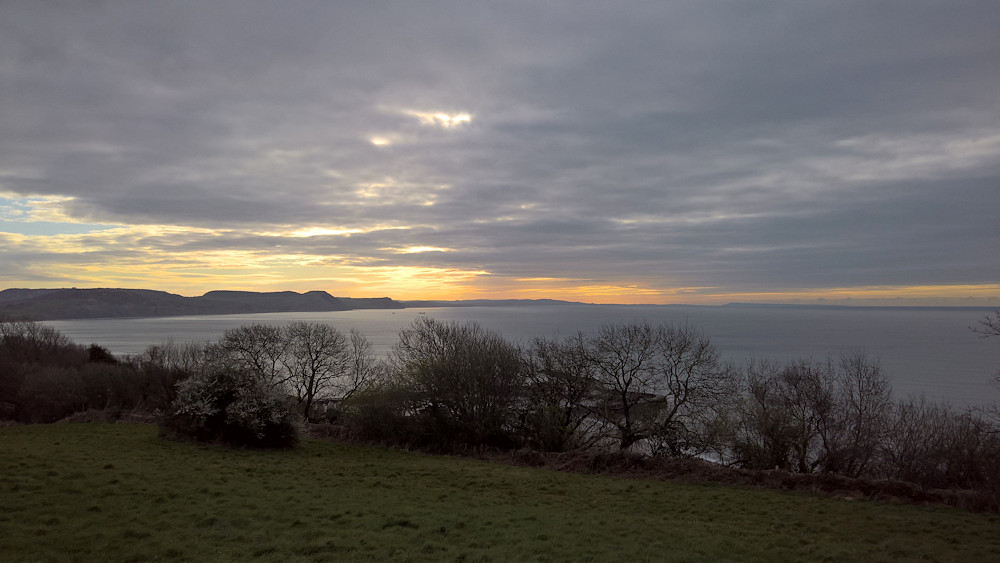 view from Ware Cliffs, dawn