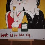 Schilderij Love is in the air