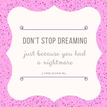 Don't stop dreaming