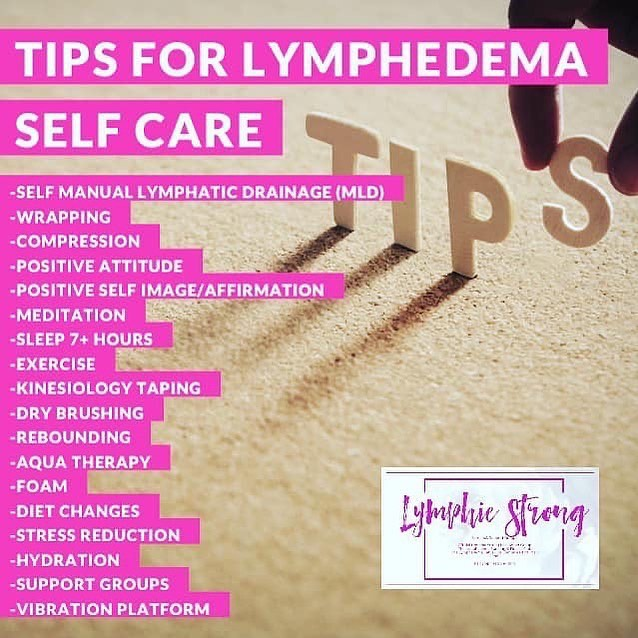Tips for Lymphedema Self Care