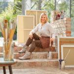 Model mit Fashion-Element Animal in Farbe Braun für mediven 550 Bein