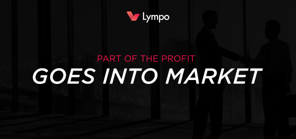 Lympo to dedicate part of the profit to purchase tokens from the market