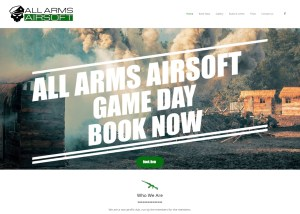 All Arms Airsoft Website Image