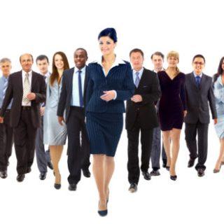 groupe de gens d'affaires en réseautage