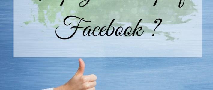 """main avec un pouce levé avec l'inscription """"une page ou un profil Facebook?"""""""
