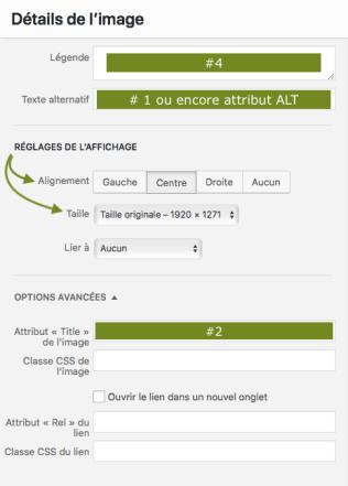 Capture d'écran sur comment optimiser ses images