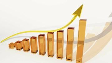graphique démontrant la croissance avec une flèche allant vers le haut