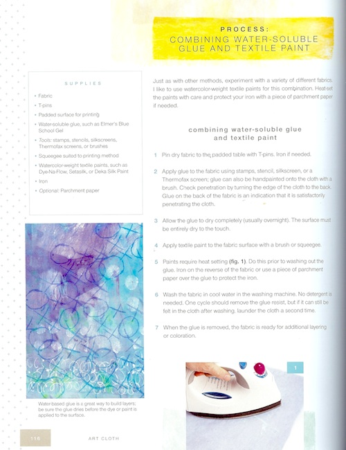 Water-Soluble Glue and Textile Paints