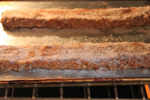 Biscotti in oven