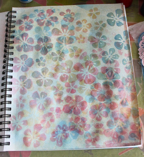 Sink Mat Watercolor Page
