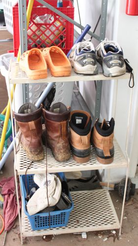 Work shoe shelf due to makeover