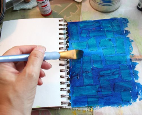 Adding paint to page