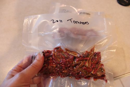 Our first three bags of dried tomatoes