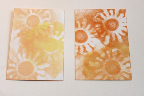 Atc backgrounds from pendant stamp