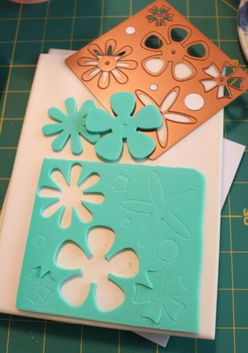 Cut outs from Spellbinders die
