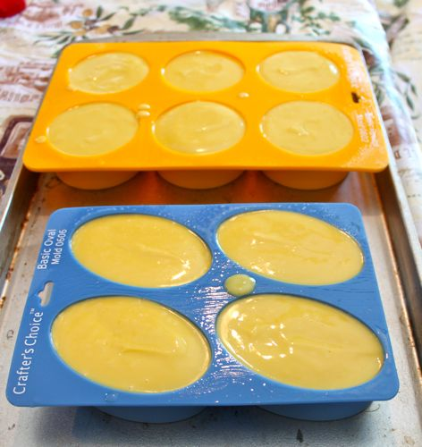 Soap in molds