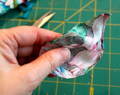 Put right sides together and sew