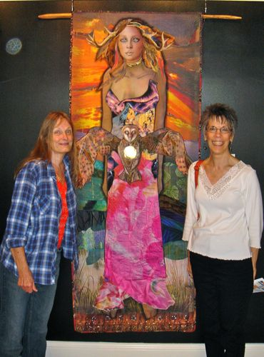 Penny Sisto and Barb in front of Mother Earth