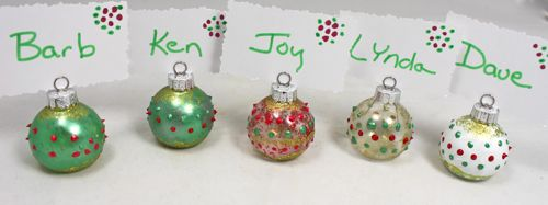Ornament placecard holders