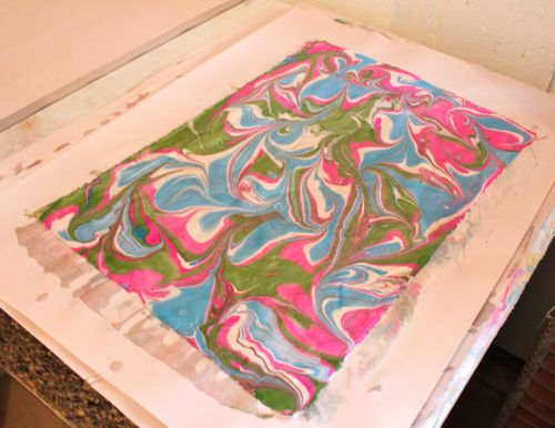 What I call a traditional marbling fabric