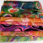 Marbling Over Previously Dyed Fabric