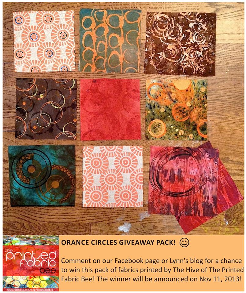 Printed Fabric Bee Giveaway pack