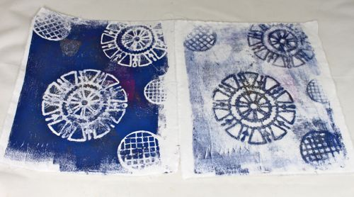 First and Second Gelli prints
