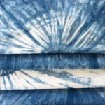 Indigo dyeing pieces
