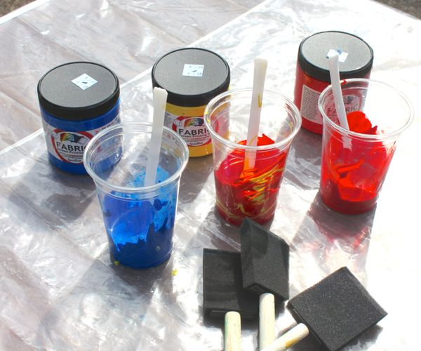mixed paints for sun printing